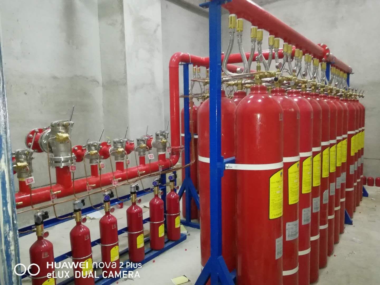 管网式七氟丙烷气体灭火系统现场施工消防报警控制装置