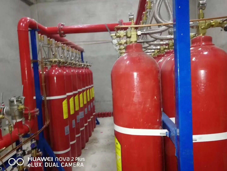 厂家进行七氟丙烷气体灭火系统装置喷灌喷头的安装检测指导施工