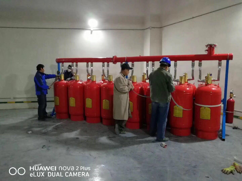 七氟丙烷厂家在地下库进行地下库气体灭火系统的泄压装置进行安装检测测试投入消防工程使用