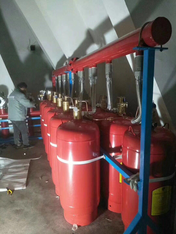 厂家进行七氟丙烷气体自动灭火装置的内部构造和设备的检测维修保养工作